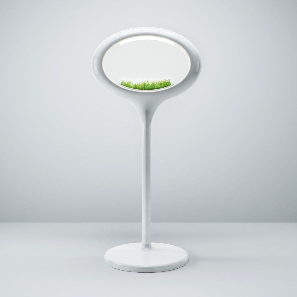 Grass lamp White stand Alone