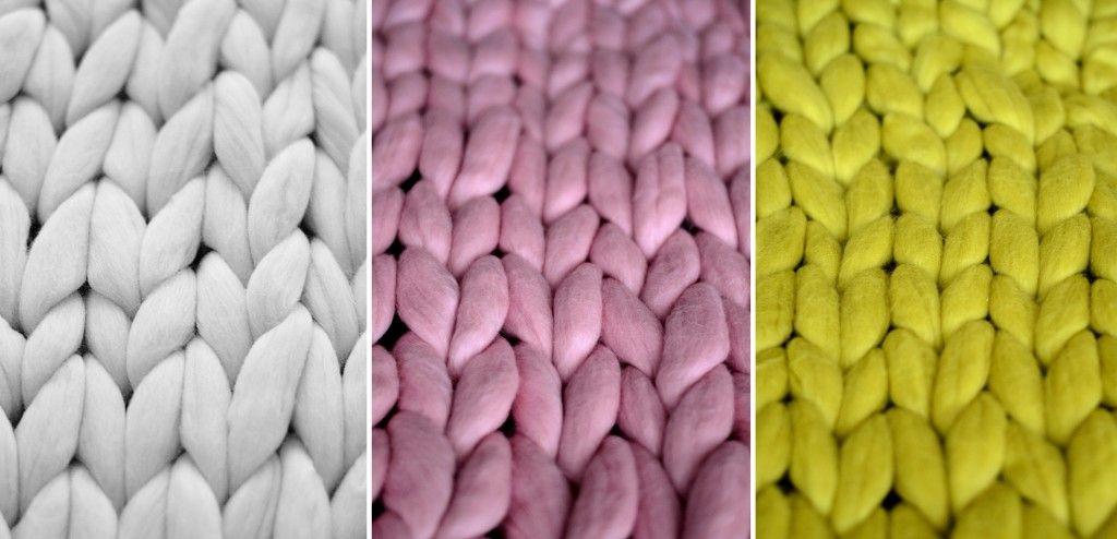 Belo, ružičasto i žuto tkanje od merino vune