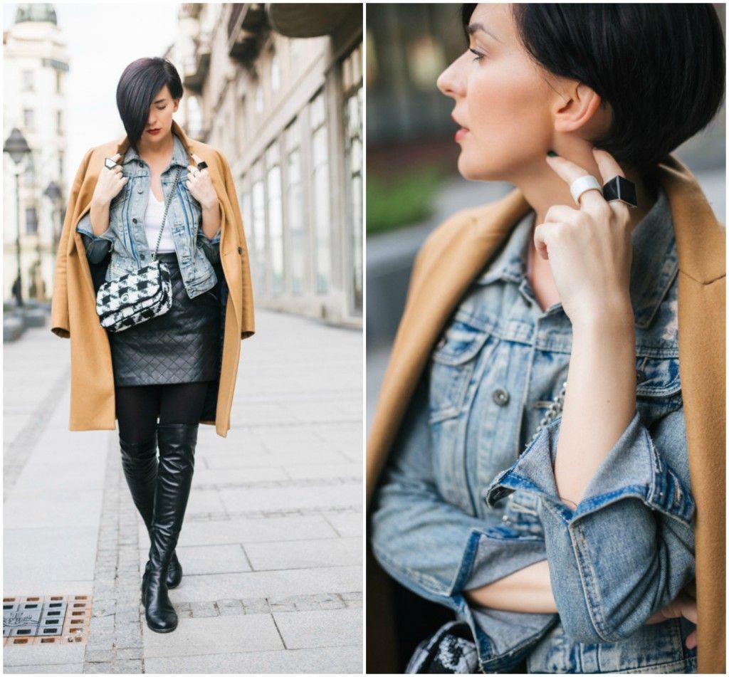 Brana's Divine World - outfit - rekapitulacija - Zara kaput, New Yorker teksas jakna, ShoeStar čizme preko kolena, Zara torba, teksas jakna i kaput