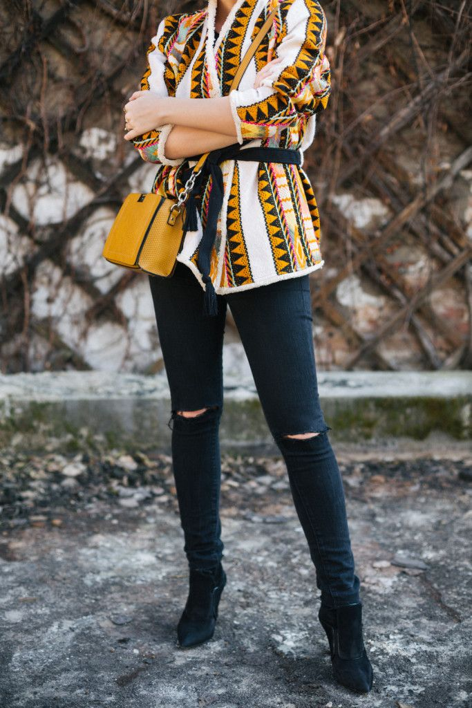 Brana's Divine World - outfit - Manog farmerice, H&M prolećna jakna, Parfois torba