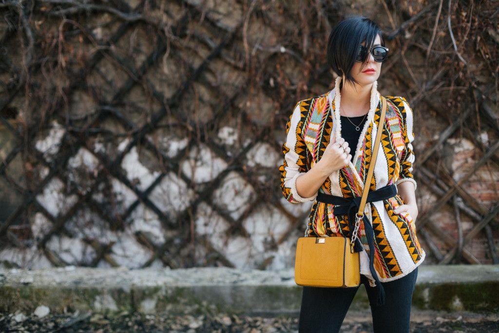 Brana's Divine World - outfit - H&M prolećna jakna, Parfois torba