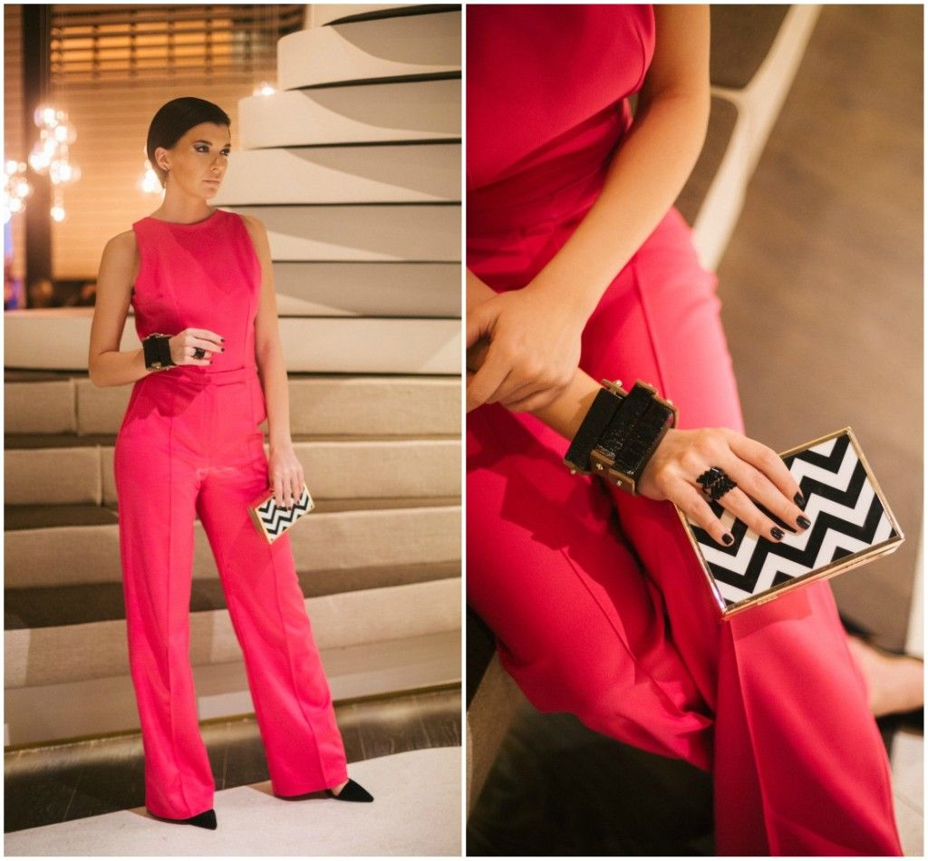 Brana's Divine World - outfit - rekapitulacija - Mates pink kombinezon, Parfois večernja torbica