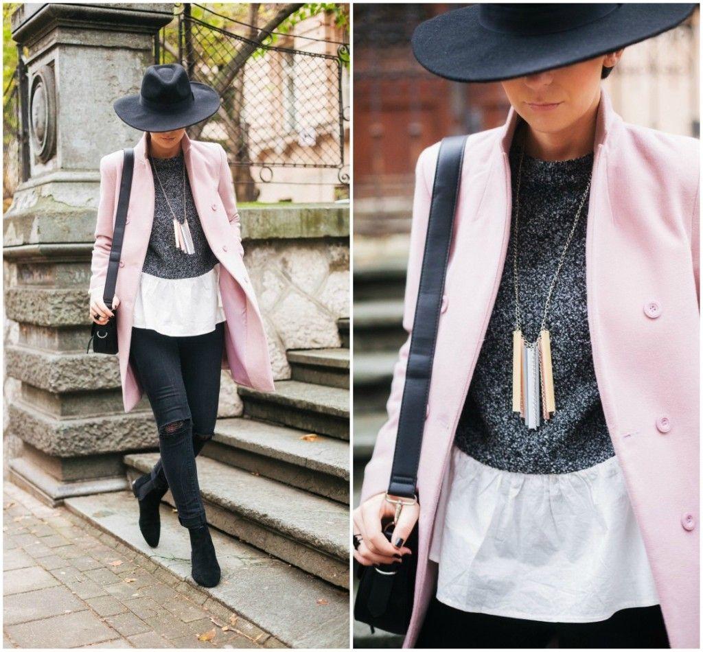 Brana's Divine World - outfit - rekapitulacija - Jagger pastelnoroze kaput, Lindex šešir, Rename ogrlica,