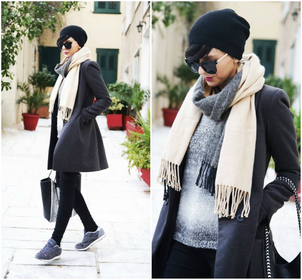 Brana's Divine World - outfit - rekapitulacija - Jagger sivi kaput, Zara kapa, Reebok patike