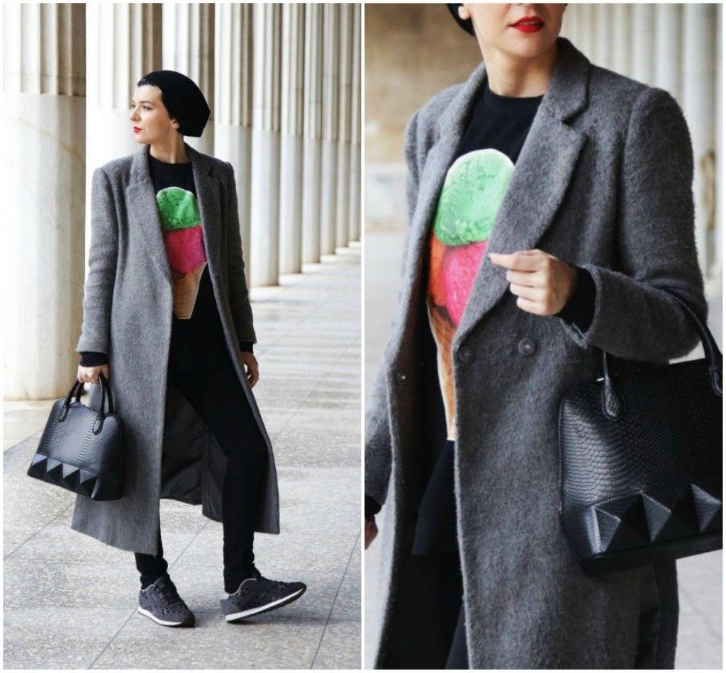 Brana's Divine World - outfit - rekapitulacija - Choies dugačak kaput, Mexx torba, Reebok patike, Iva Stefanović duks
