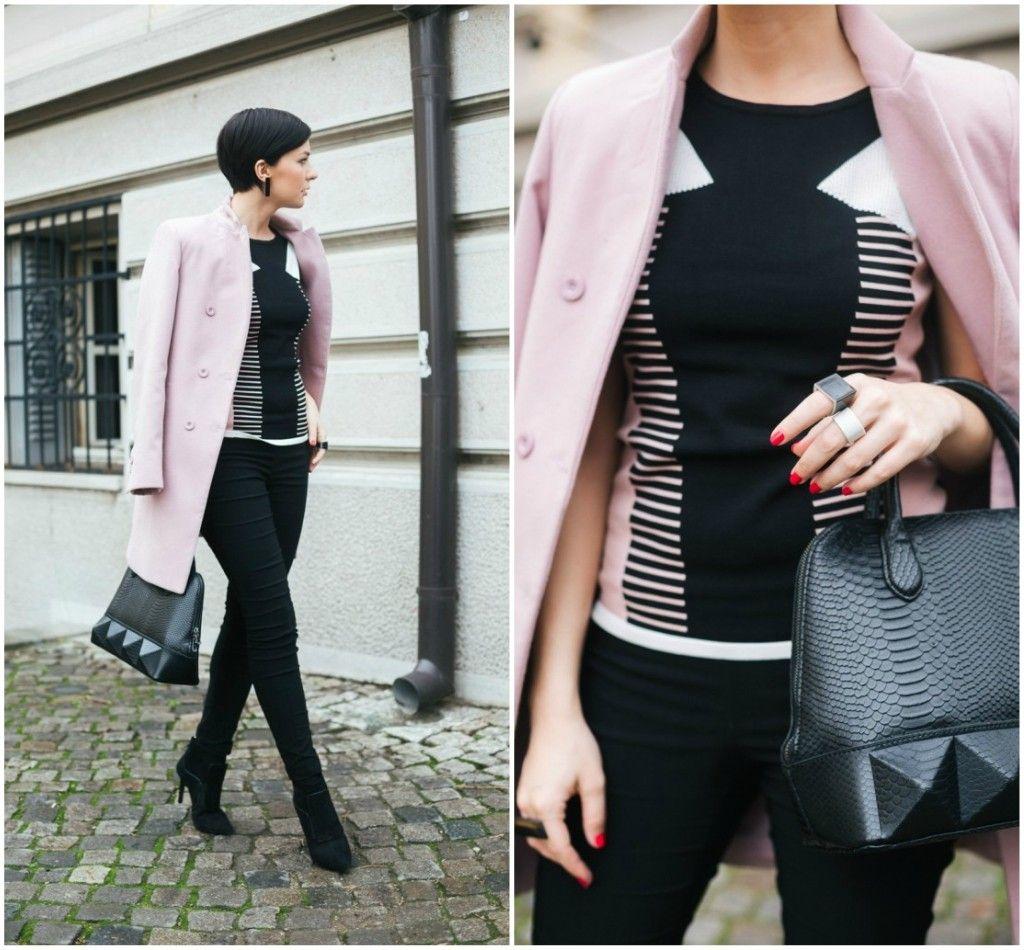 Brana's Divine World - outfit - rekapitulacija - Jagger pastelnoroze kaput, Morgan majica, Orsay pantalone, Mexx torba