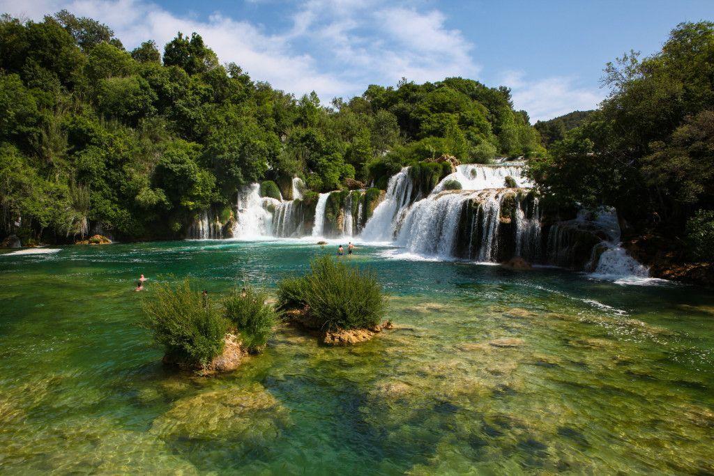 Vodopadi u Nacionalnom parku Krka u Hrvatskoj