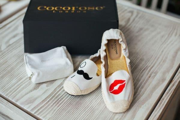 Cocorose London espadrile |Lips & Mustache | Cream of Scandinavia