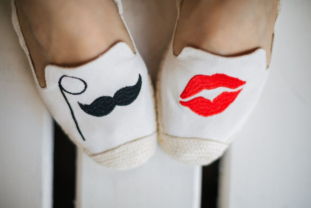 Cocorose London espadrile |Lips & Mustache | Cream of Scandinavia