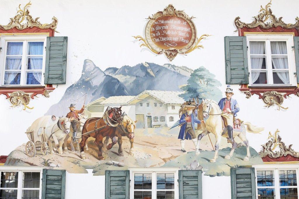 Selo Oberammergau, Bavarska, Nemacka